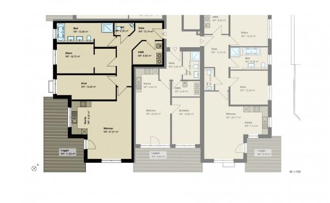 Haus A Grundriss_EG_Wohnung_3_100