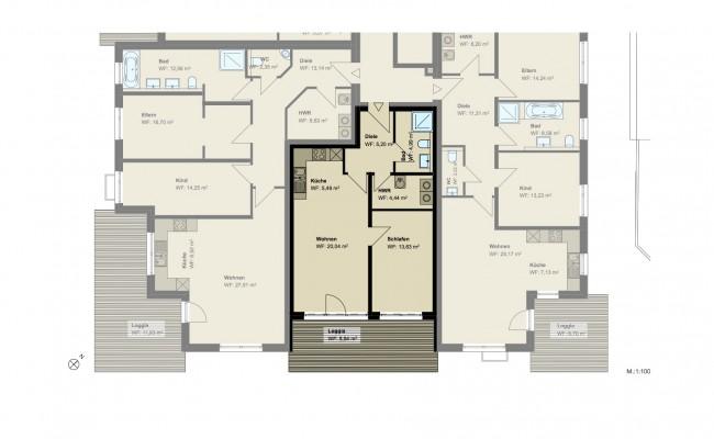 Haus A.6 Grundriss_EG_Wohnung_3_100