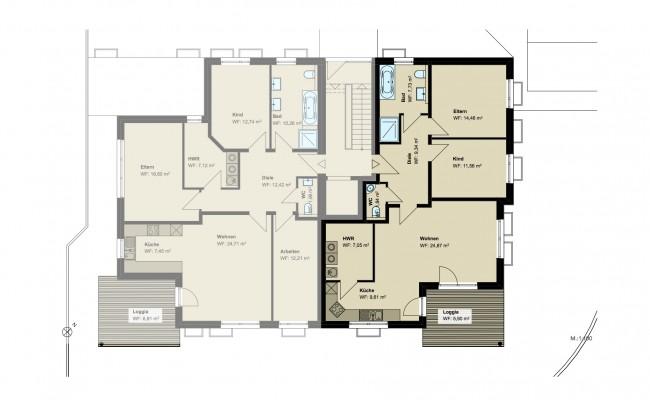 Haus B.5 Grundriss_EG_Wohnung_1_100