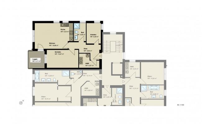 Haus A.10 Grundriss_1.OG_Wohnung_1_100