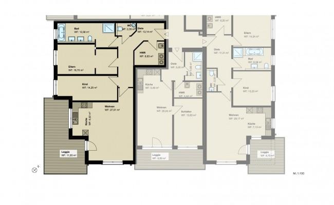 Haus A.11 Grundriss_1.OG_Wohnung_2_100