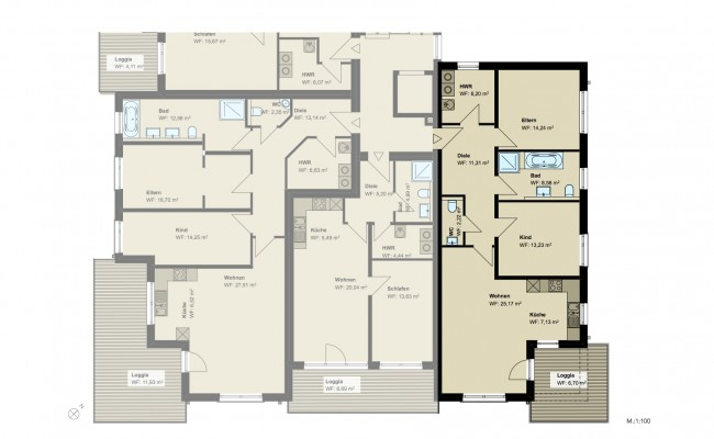 Haus A.13 Grundriss_1.OG_Wohnung_4_100