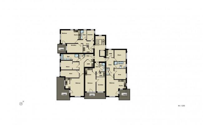 Haus A.8 Übersicht_1.OG_200
