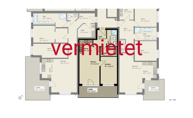 Haus A6 Grundriss_1.OG_Wohnung_6_100_verm