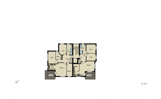 Haus B.6 Übersicht_1.OG_200