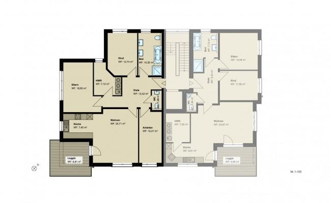 Haus B.8 Grundriss_1.OG_Wohnung_4_100