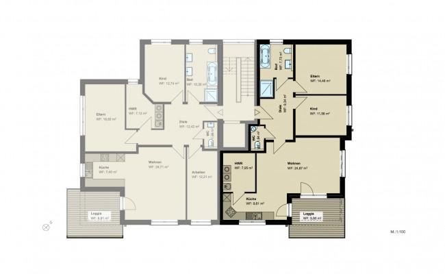 Haus B.9 Grundriss_1.OG_Wohnung_1_100