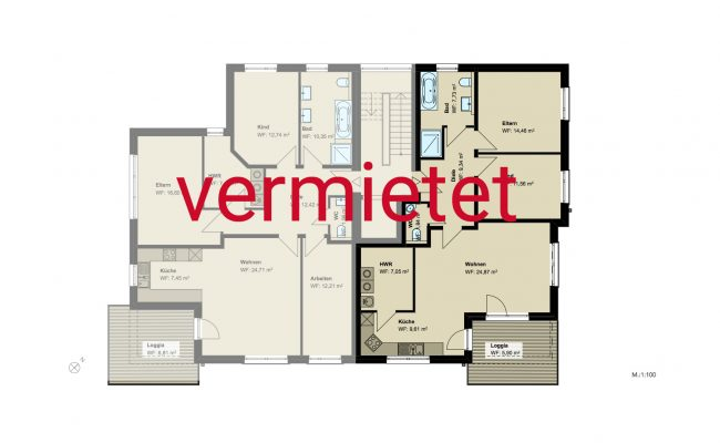 Haus B3 Grundriss_1.OG_Wohnung_3_100_verm