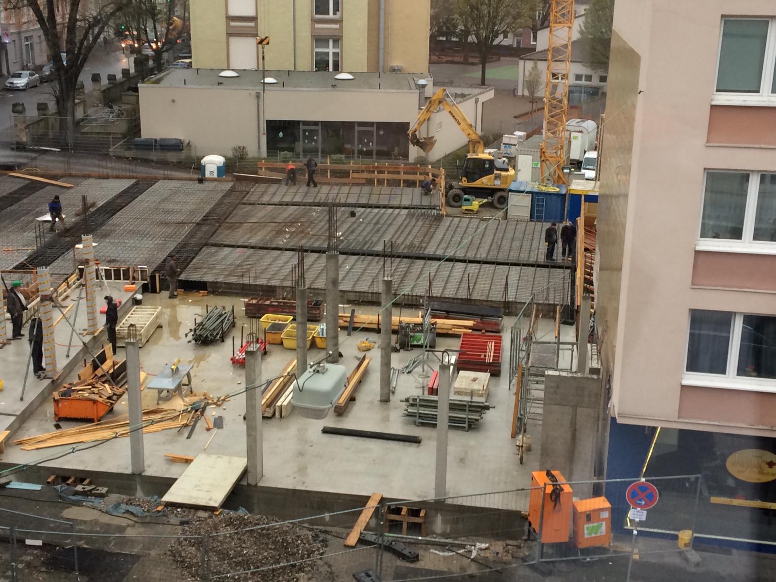 Tiefgaragen-Decke im Bau