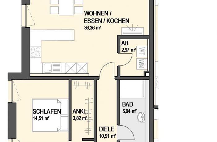 3,5-Zimmer Wohnung (#Ka1)