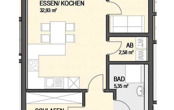 3,5-Zimmer Wohnung (#Ka2)