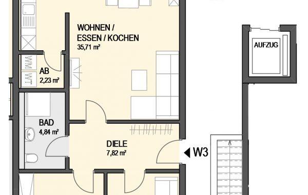 3,5-Zimmer Wohnung (#Ka3)