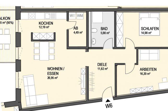 3,5-Zimmer Wohnung (#Ka6)