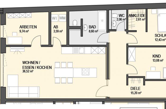 4,5-Zimmer Wohnung (#Ka7)