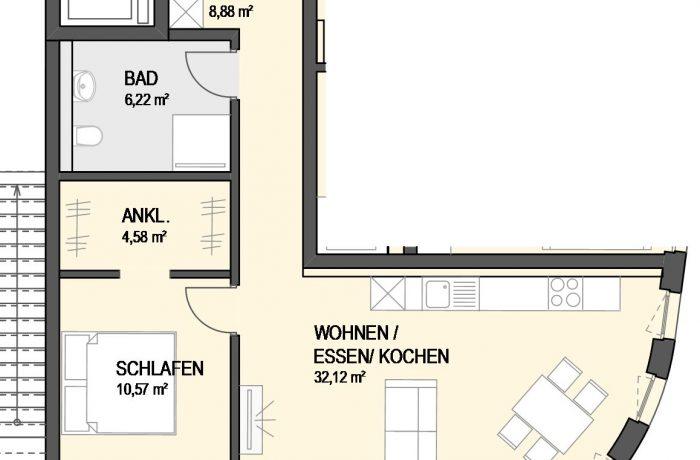 2,5-Zimmer Wohnung (#Ka11)