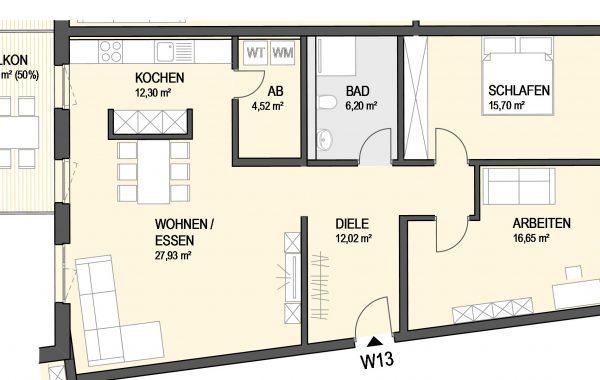 3,5-Zimmer Wohnung (#Ka13)