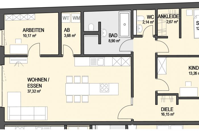 4,5-Zimmer Wohnung (#Ka14)