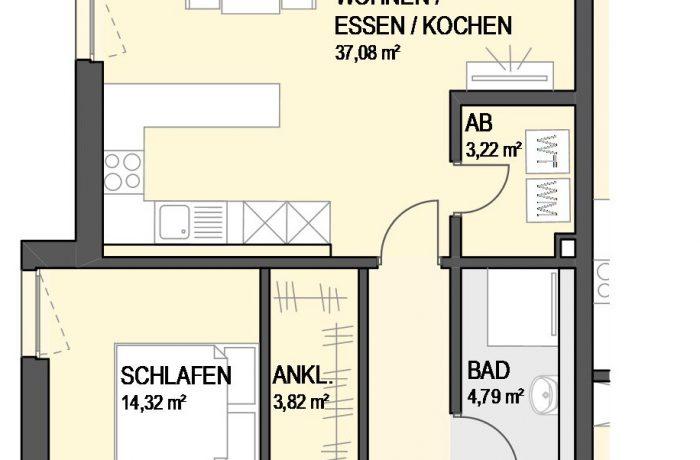 3,5-Zimmer Wohnung (#Ka8)