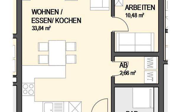 3,5-Zimmer Wohnung (#Ka9)