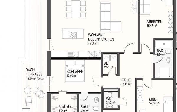 4,5-Zimmer Wohnung (#Ka15)