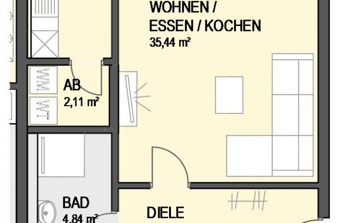 3,5-Zimmer Wohnung (#Ka16)