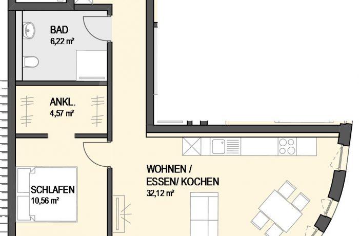 2,5-Zimmer Wohnung (#Ka17)