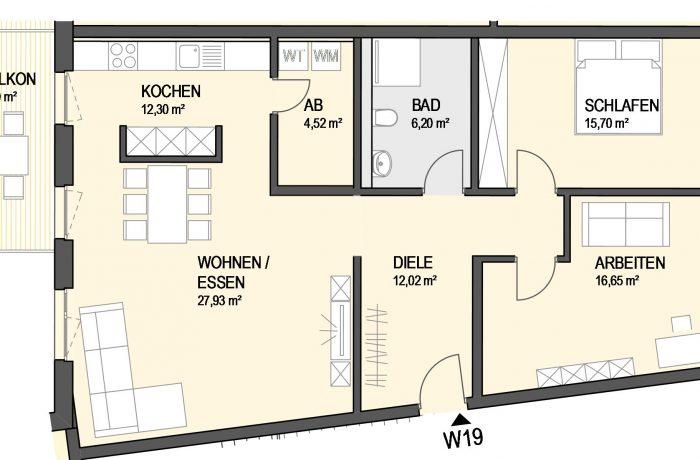 3,5-Zimmer Wohnung (#Ka19)