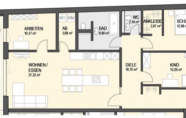4,5-Zimmer Wohnung (#Ka20)